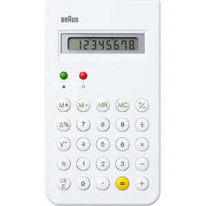 braun rekenmachine wit
